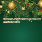 Tarjetas con mensajes de navidad para mi enamorada