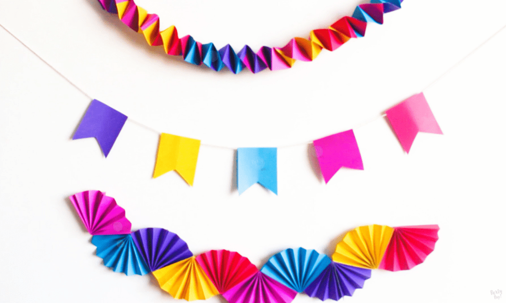 Súper guirnalda arcoíris para fiestas